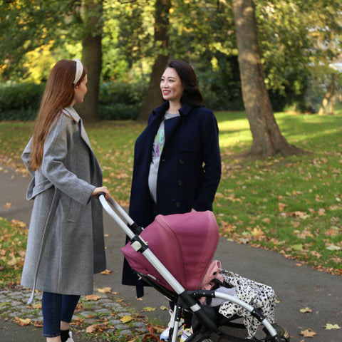 A brisk walk allows you to increase endorphins with baby in tow.