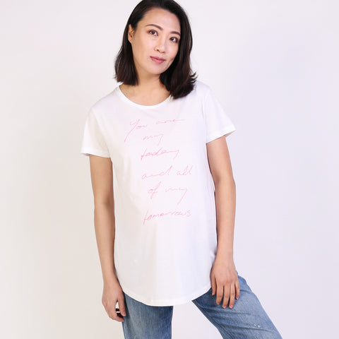 White Maternity and Breastfeeding t-shirt