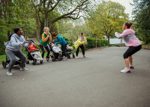 A brisk walk or buggy fit class allow you to increase endorphins with baby in tow.