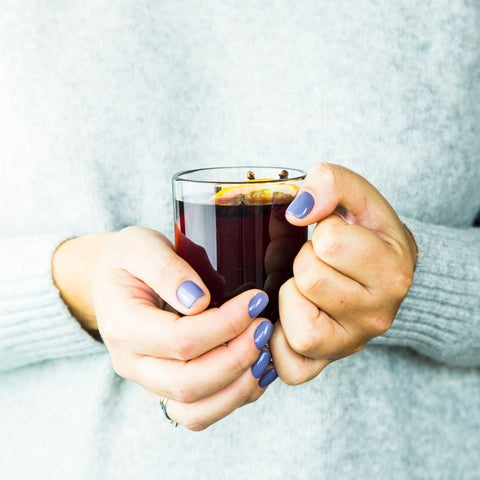 Alcohol-free winter inspired mock mulled wine