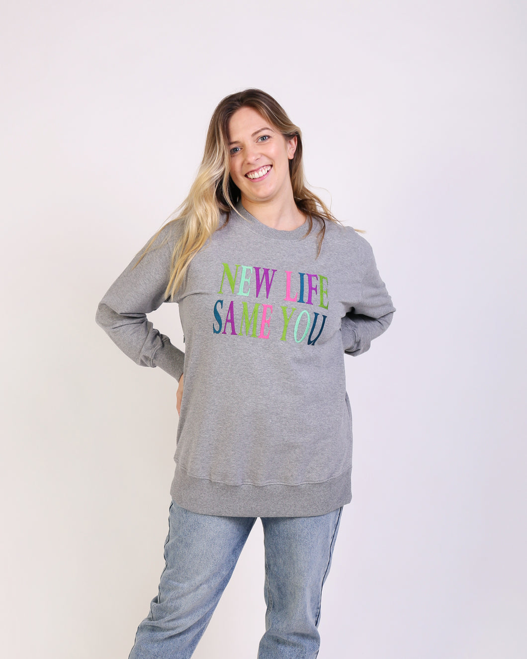 New Life Same You Maternity & Nursing Sweatshirt