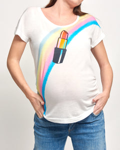Lipstick Retro Maternity T-shirt