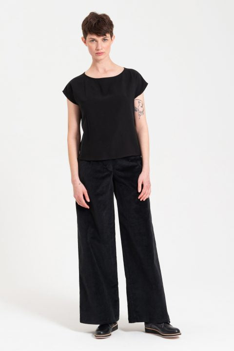 Wide Leg Tailored Pant - Corduroy