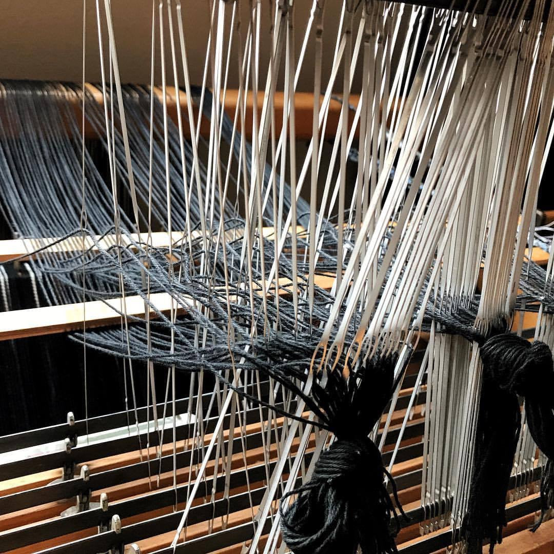 Setting up a loom to weave