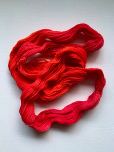 20g - Peruvian Dyed Yarn - Cranberry Red