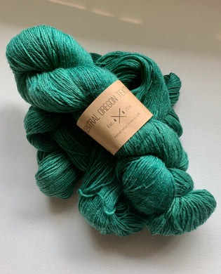 100g Superwash Merino Wool  and Bamboo - 4 Ply Yarn - Forest Green