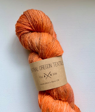 100g Superwash Merino Wool  and Bamboo - 4 Ply Yarn - Orange