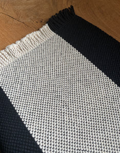 Black and White Cotton Placemats