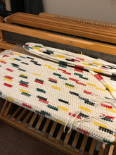 Load image into Gallery viewer, Pendleton Wool Mill Selvage Handwoven Rug - White with Dots of Color