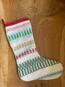 Handwoven Christmas Stocking