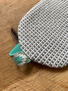 Eye Cover - Grey/White with Teal