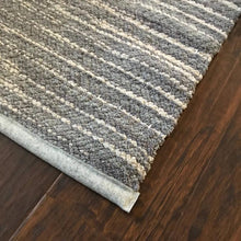 "Load image into Gallery viewer, Soft Beige and Grey Throw Rug - 30""x38"""