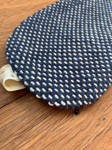 Eye Cover - Navy Blue and White