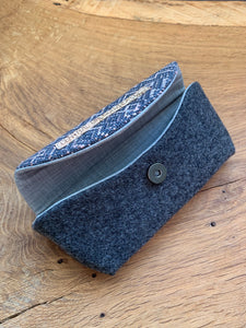 Sunglass Case - Grey and Rose Gold Diamonds