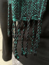 Load image into Gallery viewer, Scarf - Green and Black with Tassels
