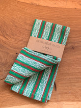 Load image into Gallery viewer, Handwoven Towel - Holiday Green