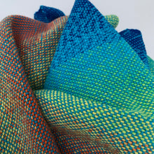 Load image into Gallery viewer, Handwoven Towel - Rainbow and Teal