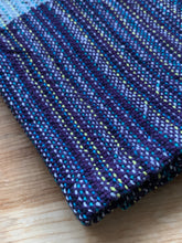 Load image into Gallery viewer, Handwoven Towel - Purple and Grey