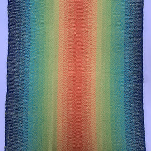 Handwoven Towel - Rainbow and Yellow