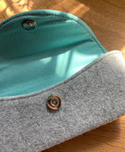 Load image into Gallery viewer, Sunglass Case - Grey and Teal