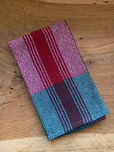 Load image into Gallery viewer, Handwoven Towel - Christmas Green & Red