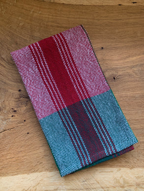 Handwoven Towel - Christmas Green & Red