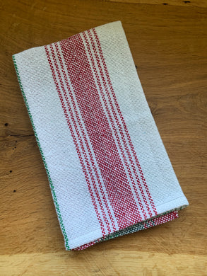 Handwoven Towel - Christmas White