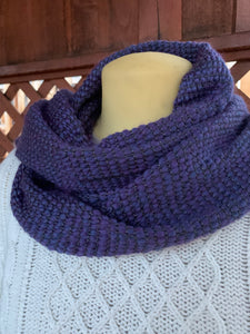Scarf - Purple Wool Blend and Bamboo