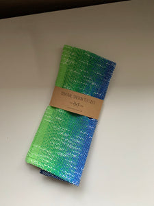 Handwoven Towel - Blue and Green and White