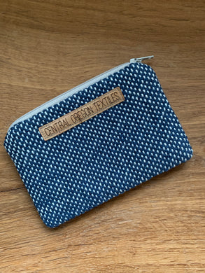 Coin Bag - Navy Blue and White
