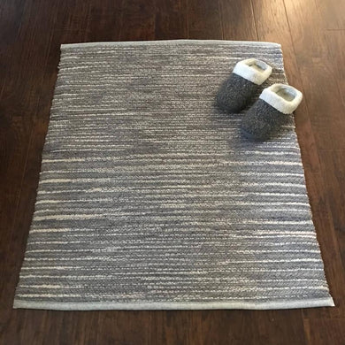 "Soft Beige and Grey Throw Rug - 30""x38"""