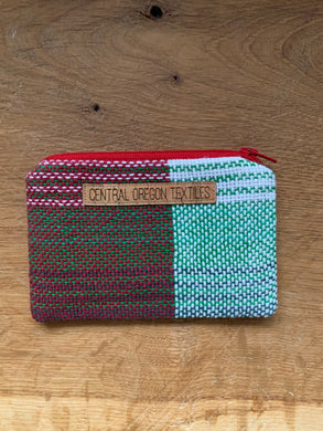 Coin Purse - Red, Green and White