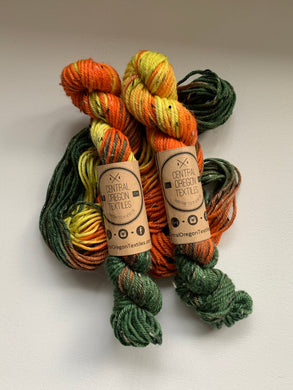 20g skein - 85% SW Merino 15% Donegal Nep - Fall is Here