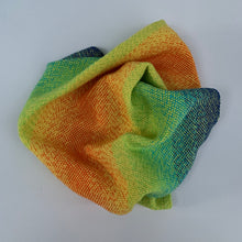 Load image into Gallery viewer, Handwoven Towel - Rainbow and Yellow