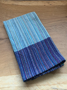 Handwoven Towel - Purple and Grey