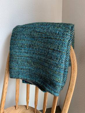 "Green and Teal Lap Blanket 35""x49.5"""