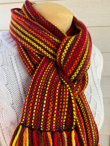 Scarf - Wool & Bamboo - Fall Leaves
