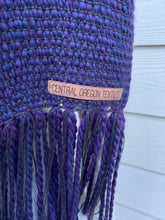 Load image into Gallery viewer, Scarf - Purple Wool Blend and Bamboo