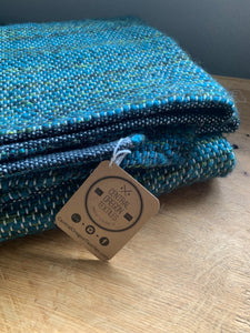 "Green and Teal Lap Blanket 35""x52"""
