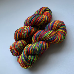 Superwash Merino Wool - Rainbow Striping Yarn