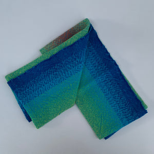 Handwoven Towel - Rainbow and Teal