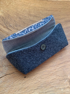 Sunglass Case - Grey and Rose Gold