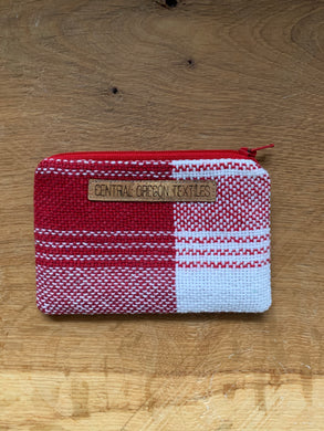 Coin Purse - Red and White