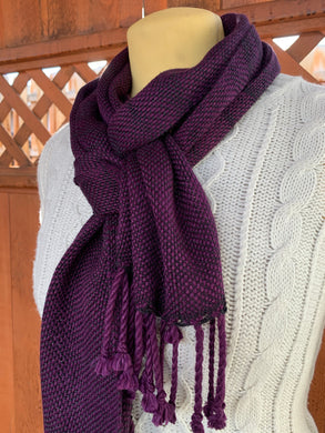 Bamboo and Silk Scarf - Purple