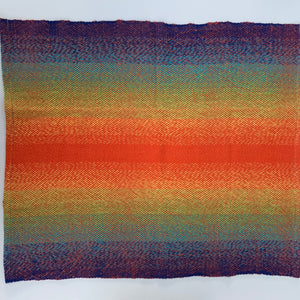 Handwoven Towel - Rainbow and Orange
