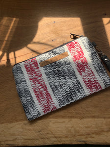 Large Clutch - Red Black and White