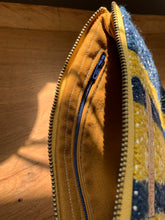 Load image into Gallery viewer, Large Gusseted Bag - Yellow and Blue