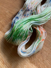 Load image into Gallery viewer, Green, blue and orange hand dyed wool