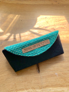 Sunglass Case - Teal White and Black
