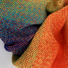 Load image into Gallery viewer, Handwoven Towel - Rainbow and Orange